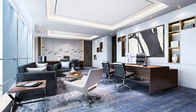 三款专业老板办公室装修效果图