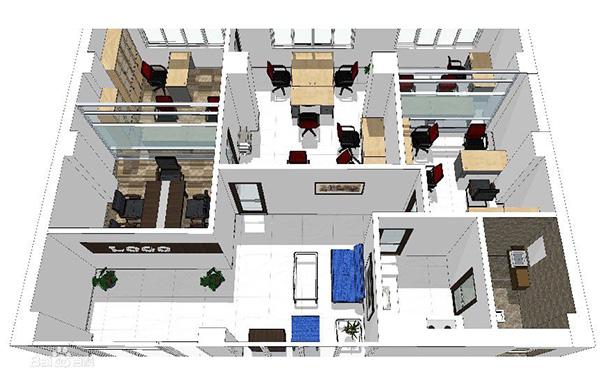 北京办公室设计平面图